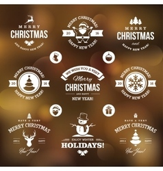 White Christmas labels vector image