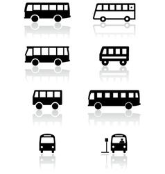 bus van symbol set vector image vector image