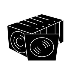 cd disc collection - vinyl icon vector image vector image