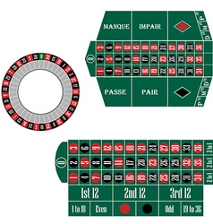 European and french roulette table vector image vector image
