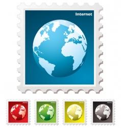 internet world stamp vector image