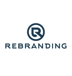 Letter R logo flat style of vector image