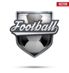 Premium symbol of Football label vector image vector image