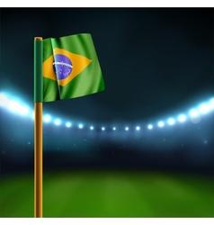 Start soccer match in Brazil vector image vector image