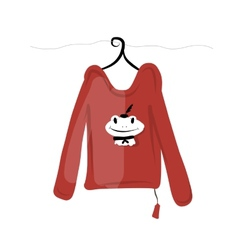 Top on hangers with funny frog design vector image vector image