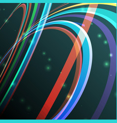 abstract curving lines ray of vector image
