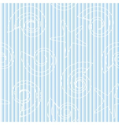 Sea life seamless pattern with stripes vector image vector image