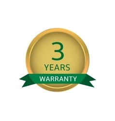 Three years warranty label vector image vector image