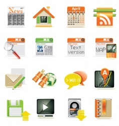 web page icon set vector image