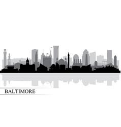 Baltimore city skyline silhouette background vector