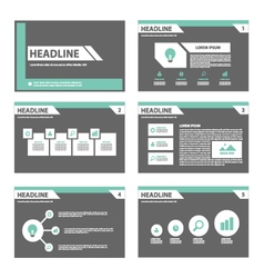 Black and green presentation templates Infographic vector image vector image