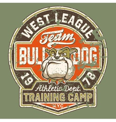 Bulldog football team vector