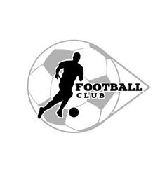 football club human playing ball background vector image