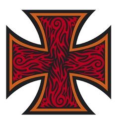 Iron cross tattoo style - Tribal style vector image