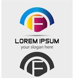 Letter F Logo Design Creative Symbol of letter F vector image vector image