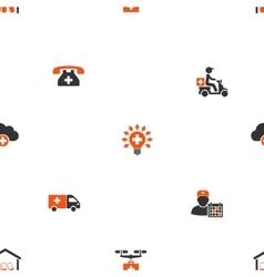 Medical Shipment Seamless Flat Wallpaper vector image