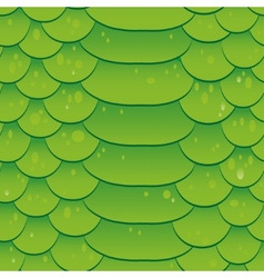 Snake skin texture Seamless pattern green vector image
