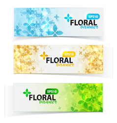 Spring floral banners set vector image vector image