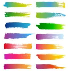 watercolor brush strokes set vector image vector image