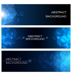 Abstract Horizontal Background Set vector image