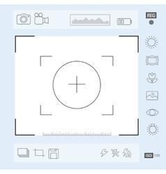 Camera viewfinder display exposure and vector