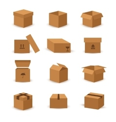 Flat box and packing icon vector image vector image