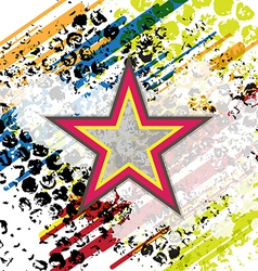 retro star on grunge background vector image vector image
