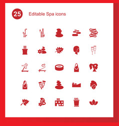 25 spa icons vector
