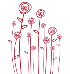 Abstract red roses vector