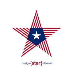 Abstract star with Liberia flag colors and symbols vector image