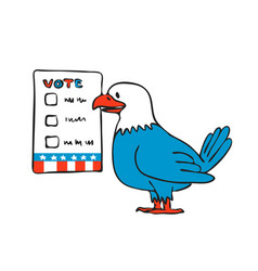 american eagle voting election ballot drawing vector image