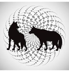 Animal design wolf icon Silhouette vector