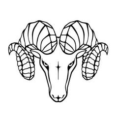 Aries head vector