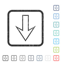arrow down icon rubber watermark vector image