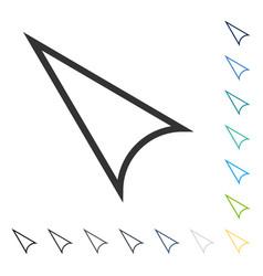 Arrowhead left up icon vector