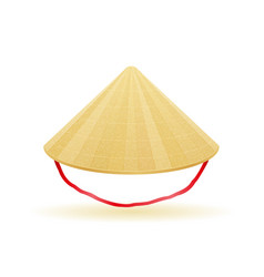 Asian straw traditional hat vector