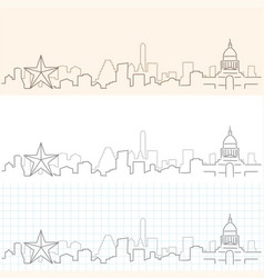 Austin hand drawn skyline vector