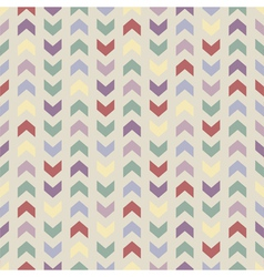 Aztec Chevron seamless colorful zigzag pattern vector image