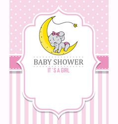 baby shower girl vector image