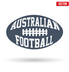 Ball of australian rules football with typography vector