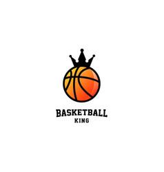 Basketball king logo design vector