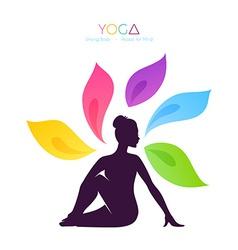 Beautiful woman doing yoga vector image