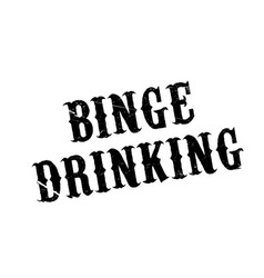 Binge drinking rubber stamp vector