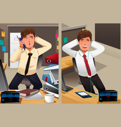 Business concept a sad monday and a happy vector