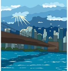 cartoon new york background vector image