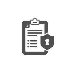 Checklist icon privacy policy document sign vector