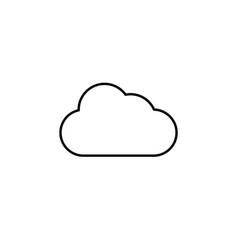 cloud line icon vector image