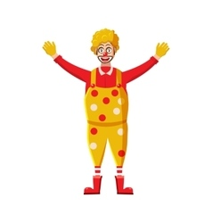 Clown icon in cartoon style vector image