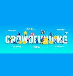 Crowdfunding typography banner vector