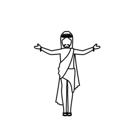 Crucified jesus icon vector
